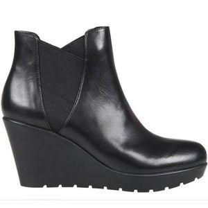 Nine West Genuine Leather Karleyo Wedge Booties